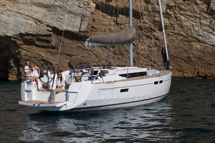 Get on the water and enjoy Aegean in style on our Jeanneau