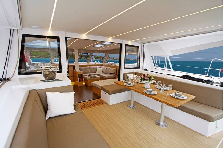 Discover Saronic Gulf surroundings on this Nautitech 46 Fly Nautitech Rochefort boat