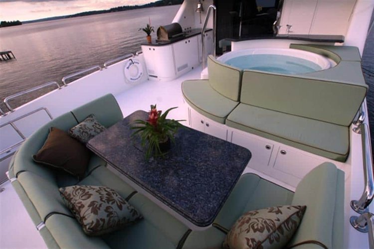 Motor yacht boat for rent in St. Petersburg