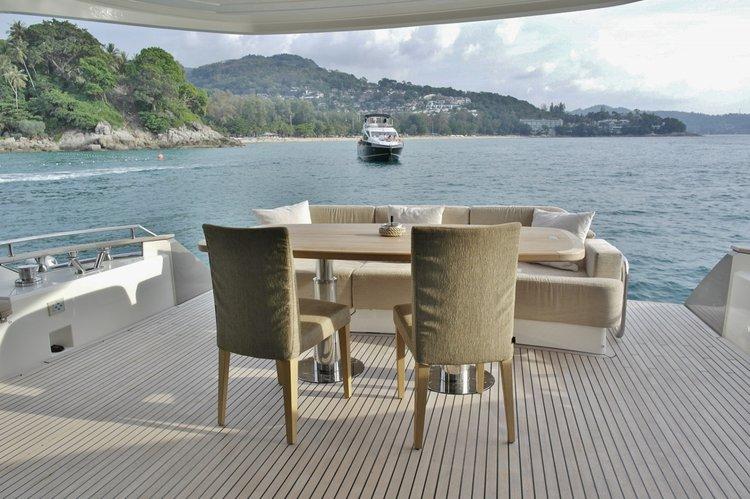 Flybridge boat for rent in Phuket