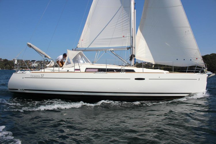 A modern, fancy, spacious, comfy and well equipped sail boat from Beneteau