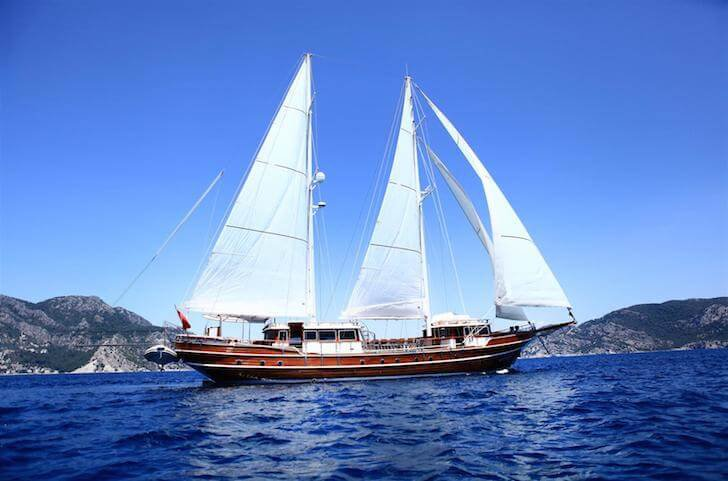 Indulge in luxury onboard 102' classic sailing yacht in Turkey