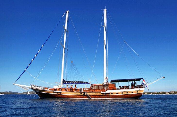 Charter a 102' classic sailing yacht in Sibenik, Croatia