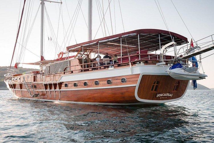 Classic boat rental in Sibenik, Croatia