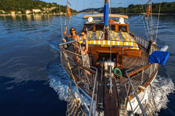 Classic boat rental in Split, Croatia