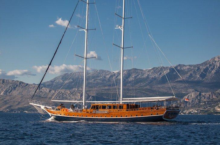 Escape from the boisterous crowd in Split, Croatia onboard 125' gulet