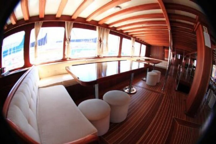 This 137.79' Custom cand take up to 32 passengers around Bodrum