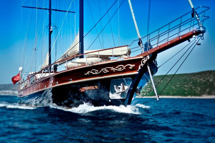 Classic boat rental in Bodrum, Turkey