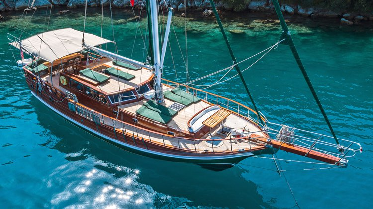 Charter a 59' classic sailing yacht in Marmaris, Turkey