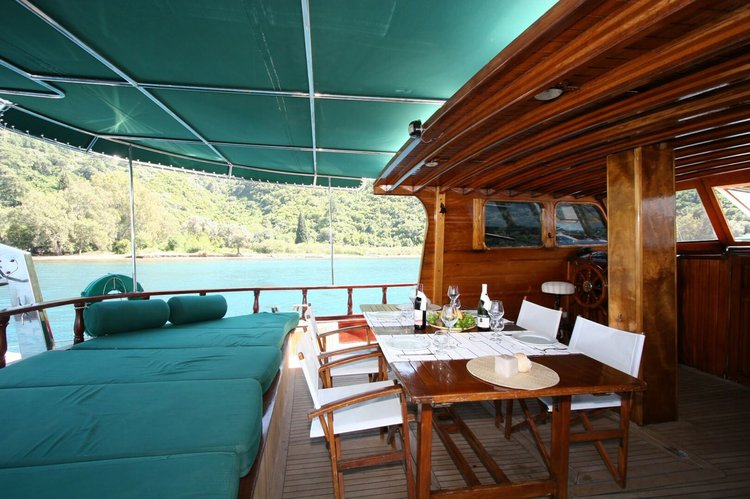 Classic boat rental in Marmaris, Turkey