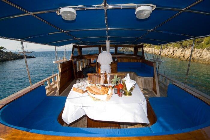 Classic boat rental in Fethiye, Turkey