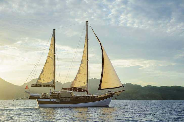 Charter a 72' classic sailing yacht in Marmaris, Turkey