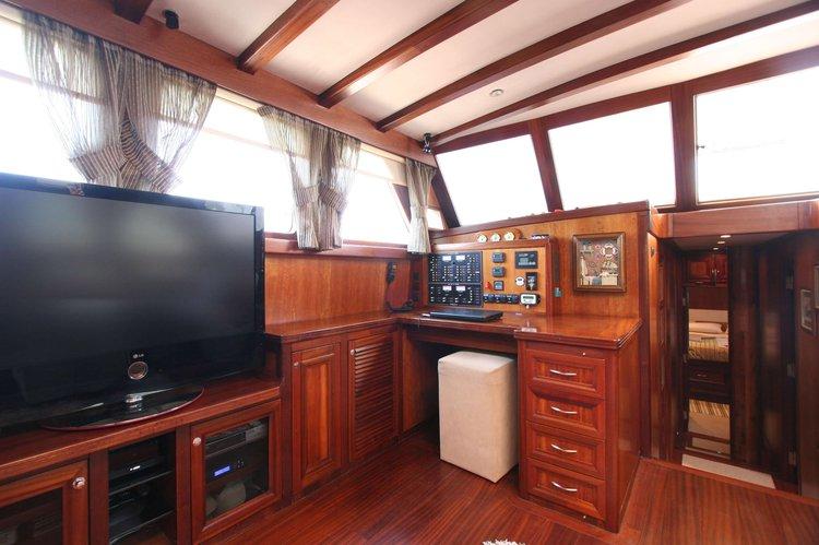 Classic boat rental in Gocek, Turkey