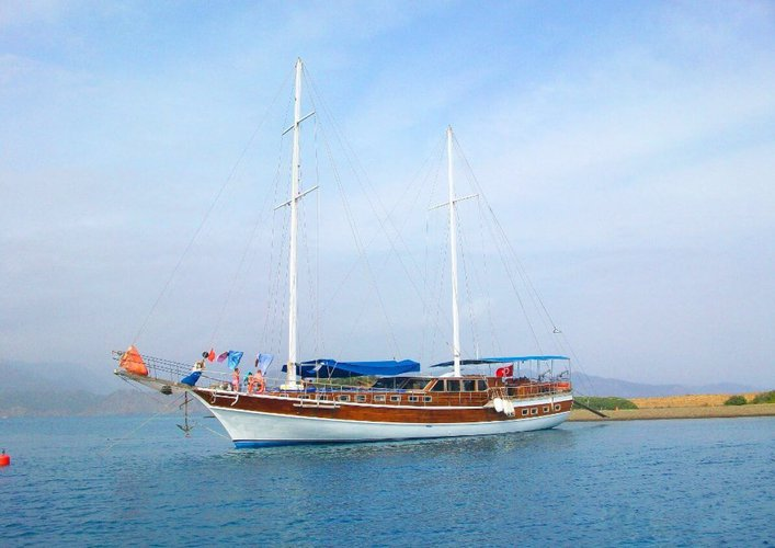 Enjoy sailing in Fethiye, turkey onboard 85' classic sailing yacht