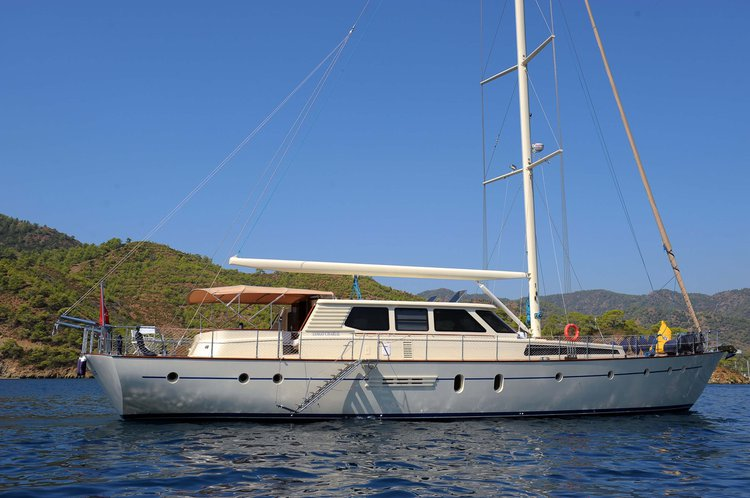 Classic boat rental in Gocek, Turkey
