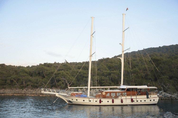 Fun in Sun in Bodrum, Turkey aboard 89' traditional sailing yacht