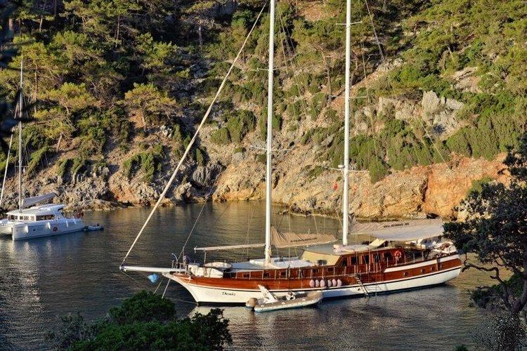Set sail in Marmaris, Turkey aboard 89' classic sailing yacht