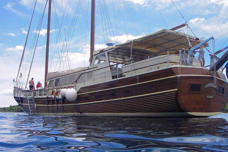 Classic boat rental in Trogir, Croatia