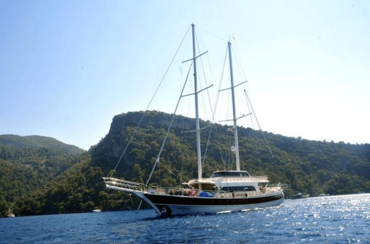 Charter a 95' Classic sailing yacht in Fethiye, Turkey