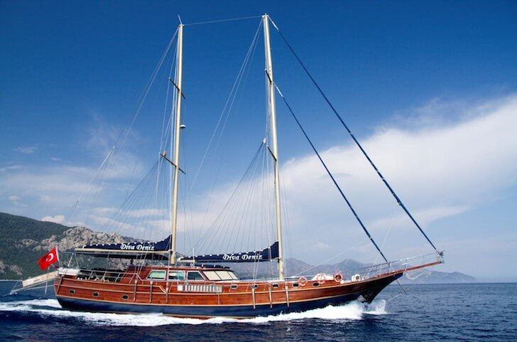 Enjoy sailing in Marmaris, Turkey aboard 95' classic sailing yacht