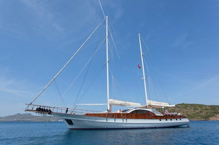 Climb aboard 98' classic sailing yacht in Gocek, Turkey