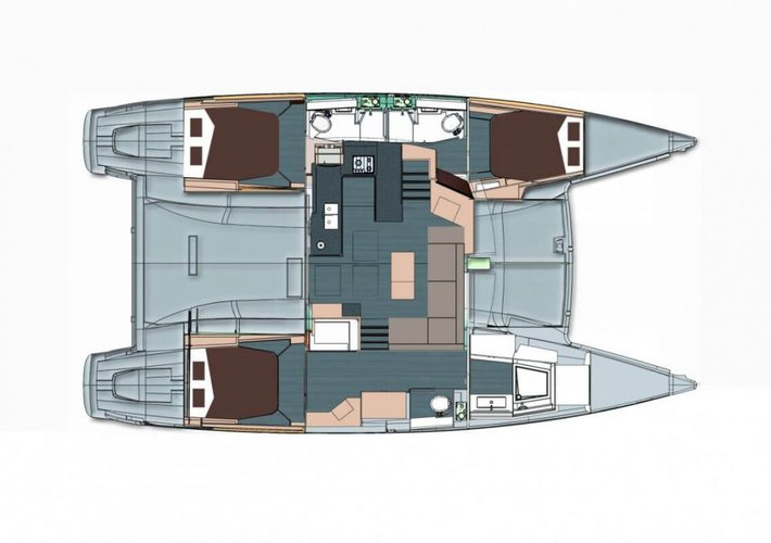 Fountaine Pajot's 43.5 feet in Annapolis