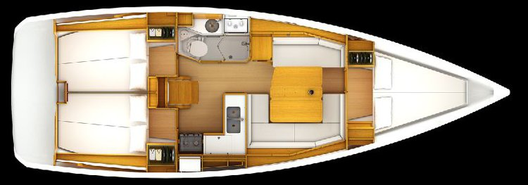 Discover Annapolis surroundings on this Sun Odyssey 389 Jeanneau boat