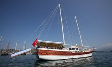 Charter a 102' traditional sailing yacht in Fethiye, Turkey