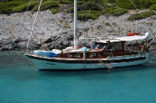 Charter a 49' traditional sailing yacht in Bodrum, Turkey