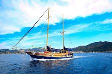 Fun in sun in Marmaris, Turkey onboard 78' classic sailing yacht