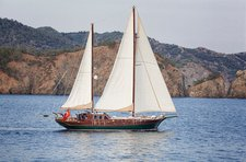 Set your dreams in motion aboard 85' classic sailing yacht in Marmaris, Turkey