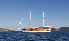 Set sail in Bodrum, Turkey aboard 92' classic sailing yacht