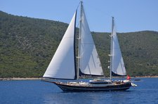 Charter a 95' classic sailing yacht in Bodrum, Turkey