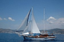 Escape from boisterous crowd in Bodrum, Turkey aboard 98' gulet
