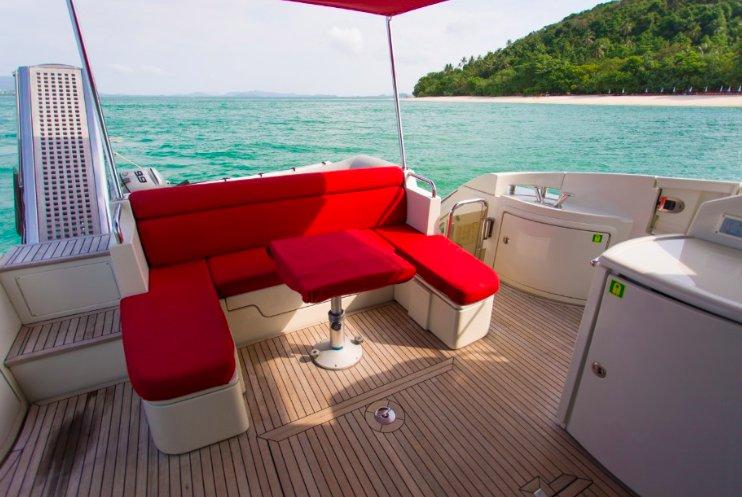 Discover Phuket surroundings on this Custom Azimut boat