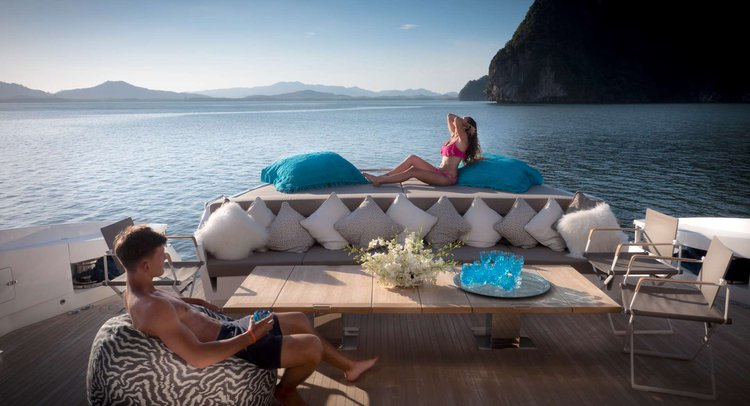 Motor yacht boat for rent in Phuket