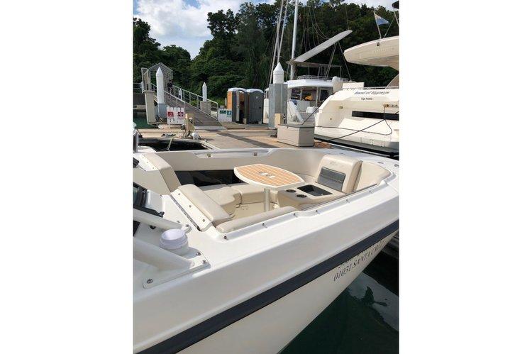 Discover Phuket surroundings on this Boston Whaler Custom boat
