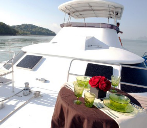 Catamaran boat rental in Phuket, Thailand