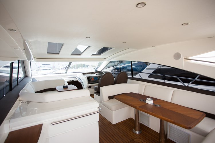 Up to 16 persons can enjoy a ride on this Motor yacht boat