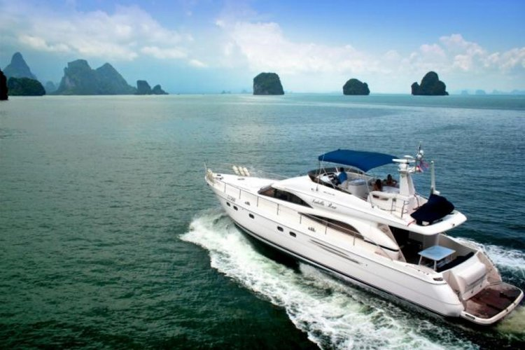 Discover Phuket surroundings on this Princess 65 Custom boat