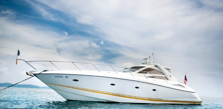 Up to 8 persons can enjoy a ride on this Motor yacht boat