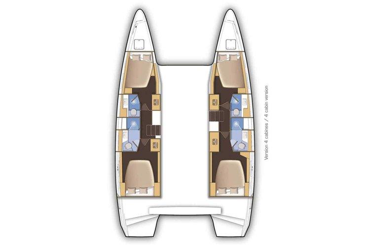 Catamaran boat for rent in Aeolian Islands