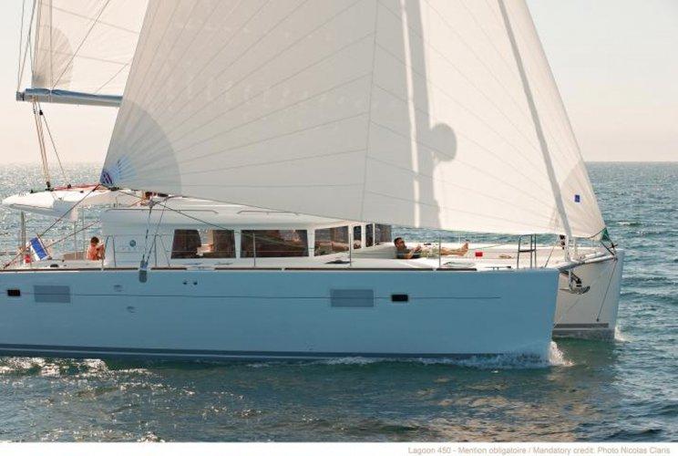 Discover Phuket surroundings on this LAGOON 450 E Custom boat