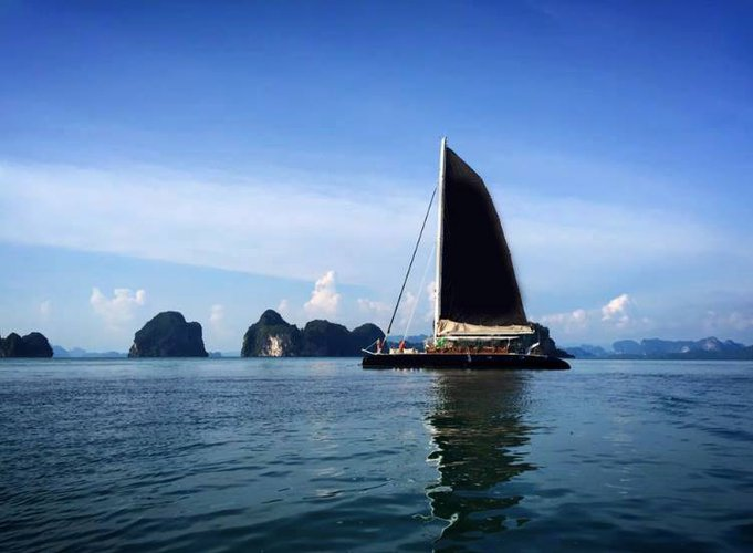 Catamaran boat for rent in Phuket