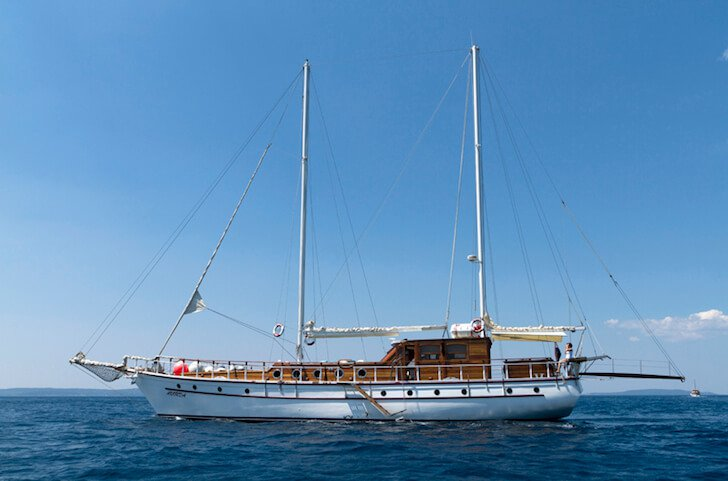 98' classic sailing yacht available for charter in Croatia