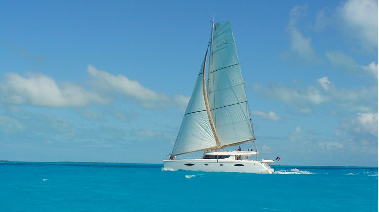 Up to 13 persons can enjoy a ride on this Catamaran boat