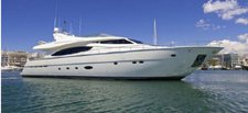 Fabulous 80' motor yacht available for charter in Portimão, Portugal