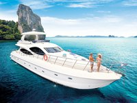 Set your dreams in motion in Phuket, Thailand aboard 80' motor yacht
