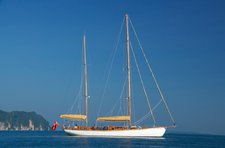 Cruise Myanmar in style aboard 95' classic sailing yacht