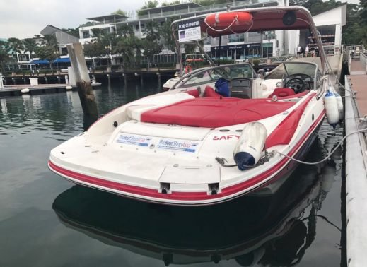 Boating is fun with a Bow rider in Sentosa Cove